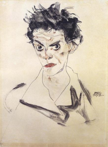 Egon Schiele Self Portrait Bust Art Print Global Gallery