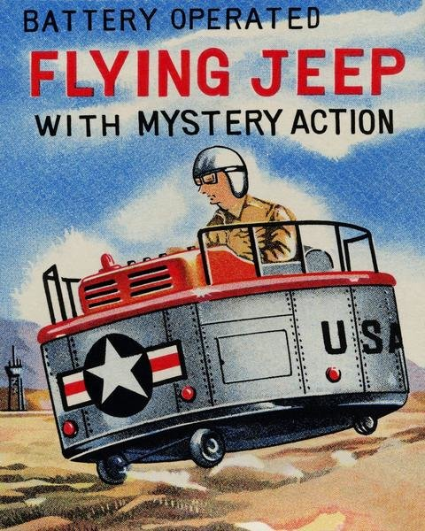 Battery Operated Flying Jeep With Mystery