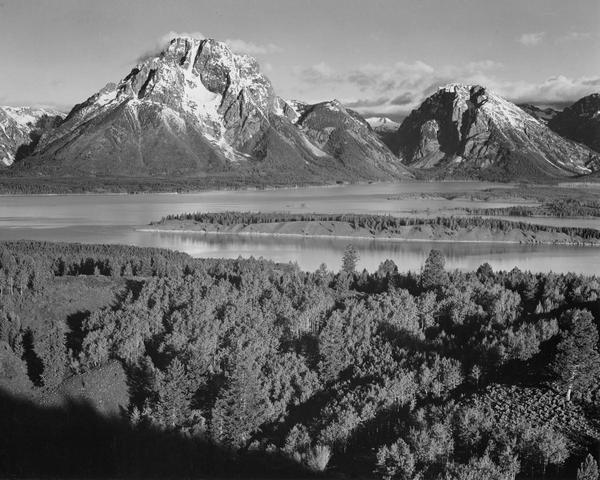 Ansel Adams View Toward Mount Moran Grand Teton